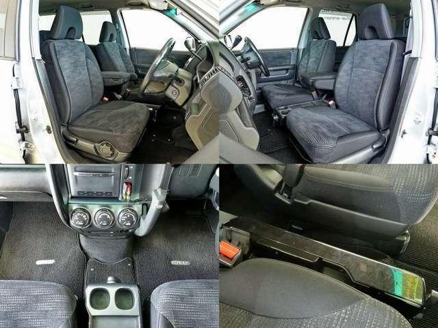 平な床にウォークスルー 車内が使いやすい SUV シートの状態も良いですよ