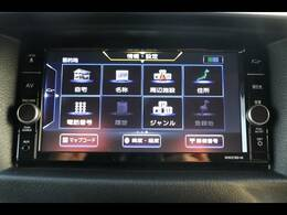 日産純正ナビを装備。フルセグTV、ブルートゥース接続、DVD再生可能、音楽の録音も可能です。