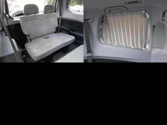 サードシート 3列シートの7人乗り サードシートは格納出来ます。 サードシートにも純正手動カーテンが付いています。