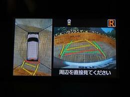 【アラウンドビューモニター】上空から見下ろしているかのような映像をメーター内ディスプレイに映し出し、スムースな駐車をサポートします☆