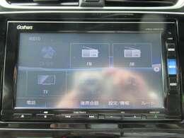 純正ギャザズメモリーナビ(VRU-195CVi) フルセグTVを装着しています。