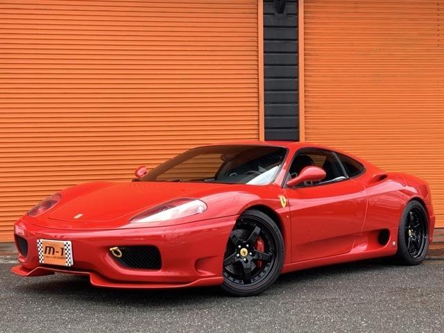 平成15年式(03y)フェラーリ360モデナF1!チャレンジストラダーレ仕様!フェラーリカーボンスポーツシート!F、Rチャレンジグリル!HAMANN19インチAW!MSレーシング可変マフラー付!
