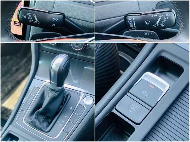 レスポンスの良い7速多段AT搭載。駐車時の地面の傾斜などを計算して自動で適正な制動力により作動する電動パーキングブレーキ。