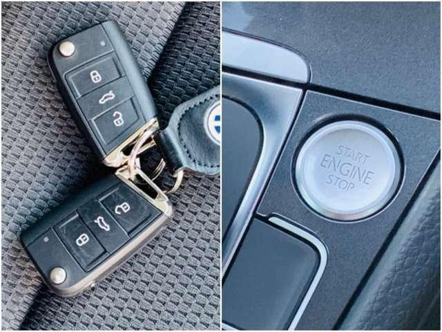 ドアの施錠・開錠時やエンジンの始動時にもキーは携帯するだけでOKなスマートキー&プッシュスタート。