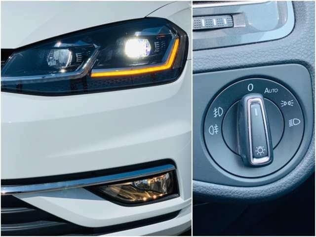 明るいLED仕様のヘッドランプが夜間走行を安心させてくれます。暗くなると自動的にライトを点灯してくれるオートライト機能付き。