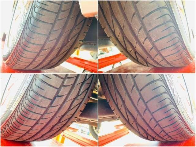 タイヤの状態も4輪共に良好です。タイヤサイズは205/55R16です。