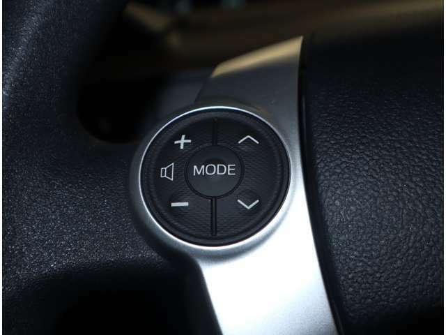 オーディオの操作がハンドル内蔵のスイッチでできるので便利です