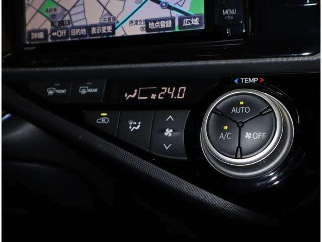 オートエアコンはワンタッチで室内温度を快適