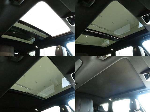 スライディング式パノラミックルーフ「後席まで広がるパノラミックルーフは遮るものがなく、開放的な車内空間を提供致します。」