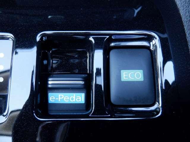 【e-ペダル】アクセルペダルの踏み加減を調整するだけで発進、加速、減速、停止までをコントロールすることができます。