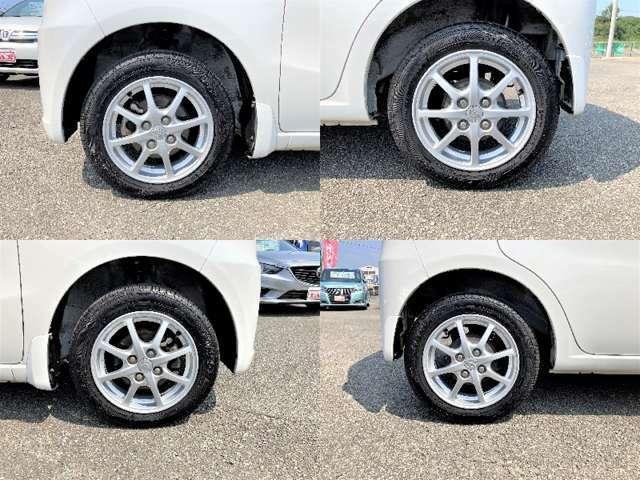 アルミホイールでスポーティに!運転中のビジュアルを演出してくれる重要なポイントですね!オシャレは足元から♪  足回りも綺麗の状態です。