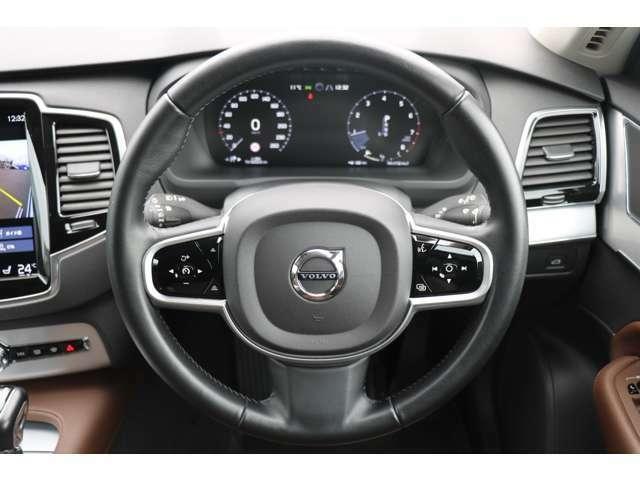 全車速追従機能付クルーズコントロール!車の流れに合わせて走行・加速・減速・停止まで自動コントロール。高速や渋滞に威力を発揮!車間距離も設定できます。ハンドル操作もアシストしてくれます。