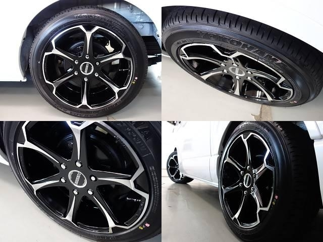 タイヤには車検対応のヨコハマタイヤのPARADA18インチLTタイヤを新品で装着!!