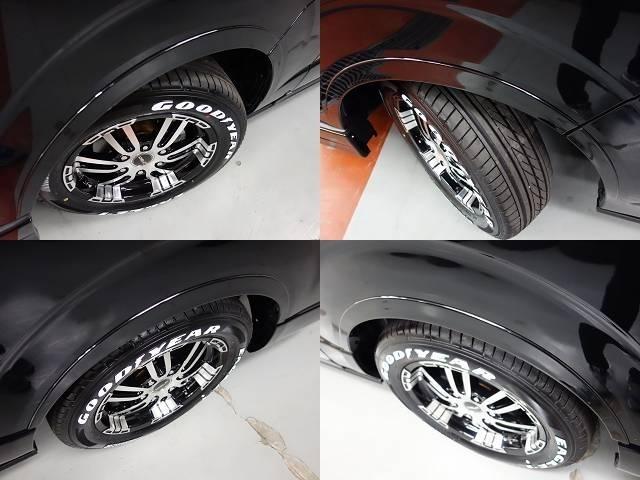 タイヤには人気のグットイヤー NASCARホワイトレタータイヤを新品で装着♪