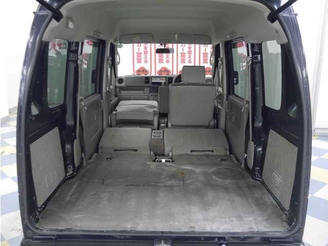 「シート格納」シートを格納すればさらに大容量のスペースが出現!
