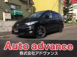 トヨタ エスティマ 2.4 アエラス 4WD 1年保証付本州仕入 新18AW 両面PTVナビ