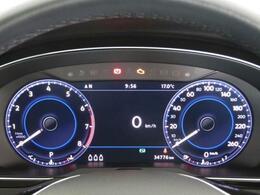 ナビ画面や様々な車両情報を表示できる12.3インチフル液晶ディスプレイ「Active Info Display」を装備!