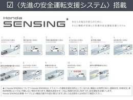 【Honda SENSING】 ミリ波レーダー×単眼カメラ。精度の高い見地能力で、安全運転を支援します。