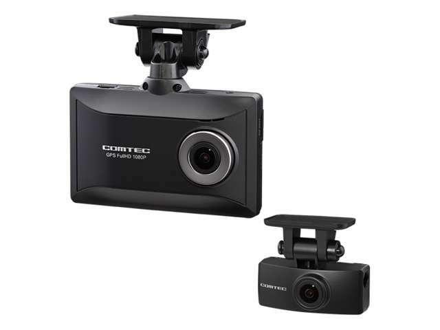 Aプラン画像:FULL HD200万画素の前後2カメラにより走行時、駐車監視中(オプション機能)も前方/後方を録画。前方/後方の録画映像は本体の液晶画面やパソコンで確認が可能です。