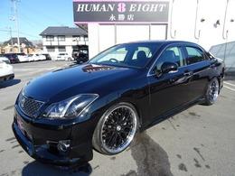 トヨタ クラウンアスリート 2.5 アニバーサリーエディション 黒革 新品20AW 新品車高調 クルコン