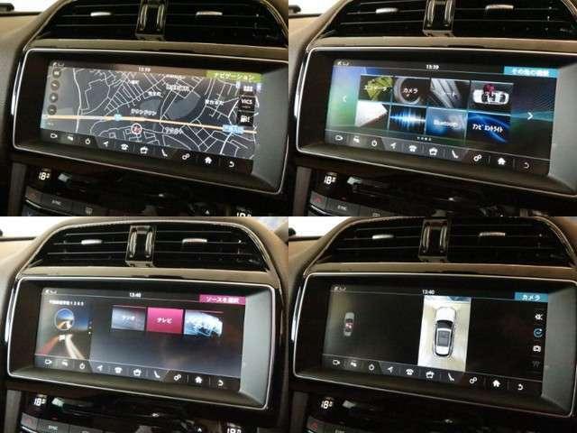 デジタルテレビ内蔵ナビゲーション。BluetoothやUSB接続など多彩なメディアにも対応。サラウンドカメラシステムも搭載されており、駐車時も安心です。