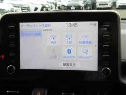 ディスプレーオーディオを装備しています。こちらの車両にはナビゲーションの機能はございませんので、お手持ちのスマートフォンと連携してナビゲーションの機能を使うことができます
