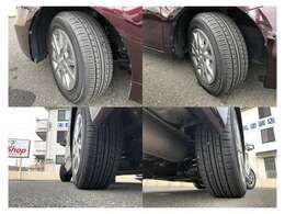 車両装着タイヤの状態です。