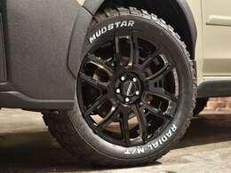 レイズ・チームディトナF6ドライブ18インチ・ブラックマシニングカラ―をチョイス!!タイヤはマッドスターラジアルM/Tを新品にて装着!!