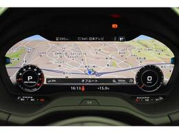 バーチャルコックピット『メーターパネル内に高解像度の12.3インチ液晶ディスプレイを配置。ディスプレイ内に地図が表示され、ナビゲーション確認の際にドライバーは視線の移動を少なくすることができます。