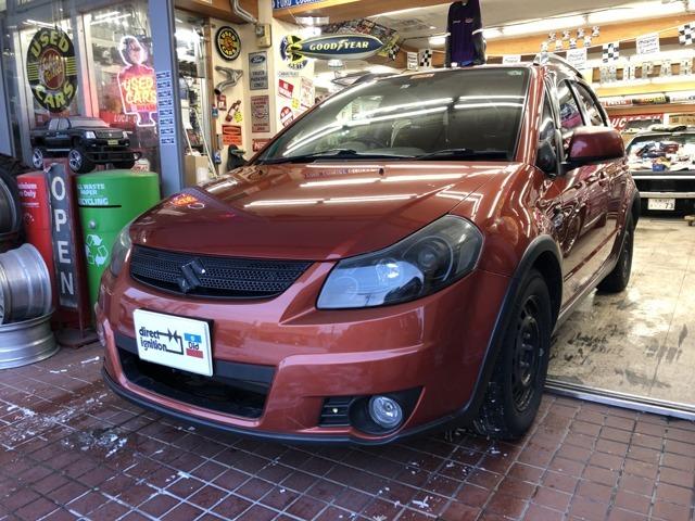 希少オレンジ×ブラックSX4・4WD!カロッツェリアDVDプレイヤー!HID!スマートキー!