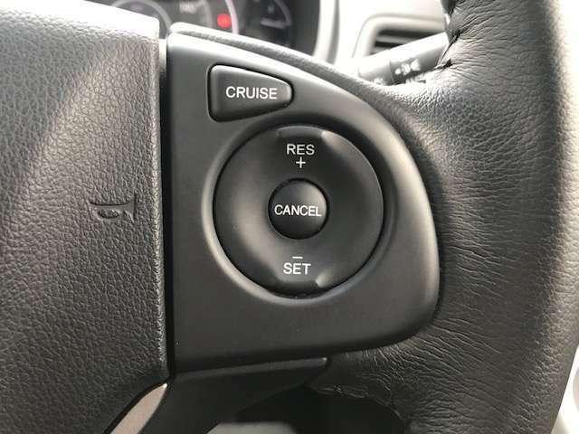 クルーズコントロール装備しております。高速道路などで長時間、長距離運転される方にはとっても重宝します。