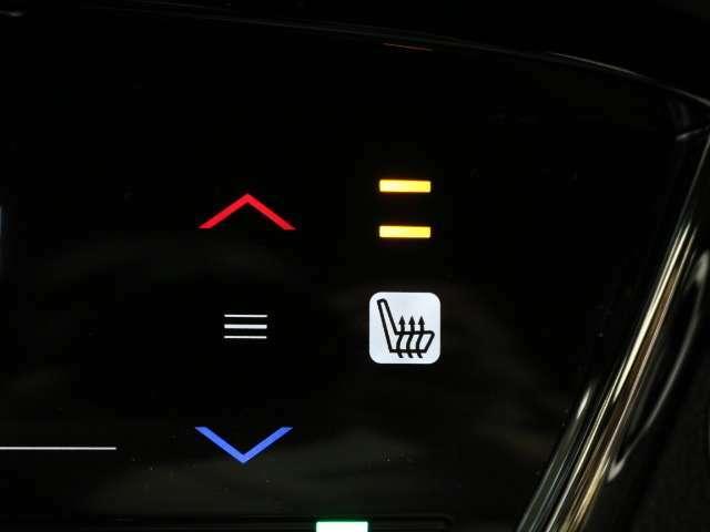 運転席と助手席にシートヒーターが付いていますので、冷えた車内でも、スイッチを押せば座面と背もたれで身体を温めます。