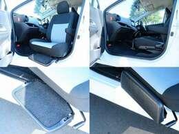 助手席回転シートは手動式ではありますが、とても軽い力で動きます!シート自体が滑らかに動くような構造になっておりますので、女性でも成人男性が乗ったシートを簡単に動かすことが可能です!