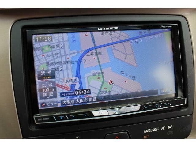 カロッツェリア製(AVIC-ZH0009)が装備されておりフルセグTV・CD・DVD・Bluetoothをお使い頂けます。