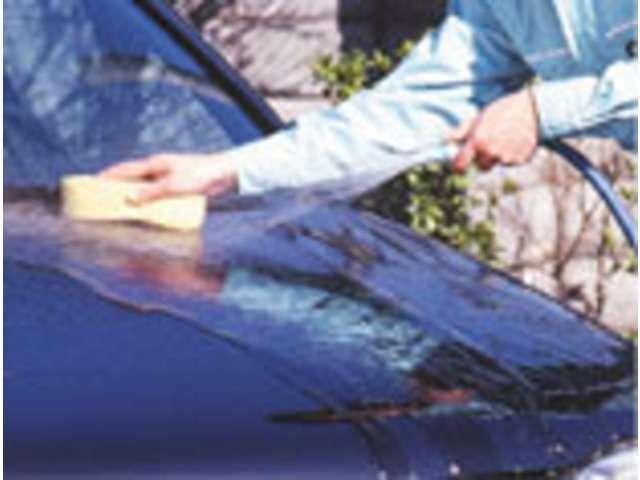 車のお手入れが簡単、普段は水洗いで充分です
