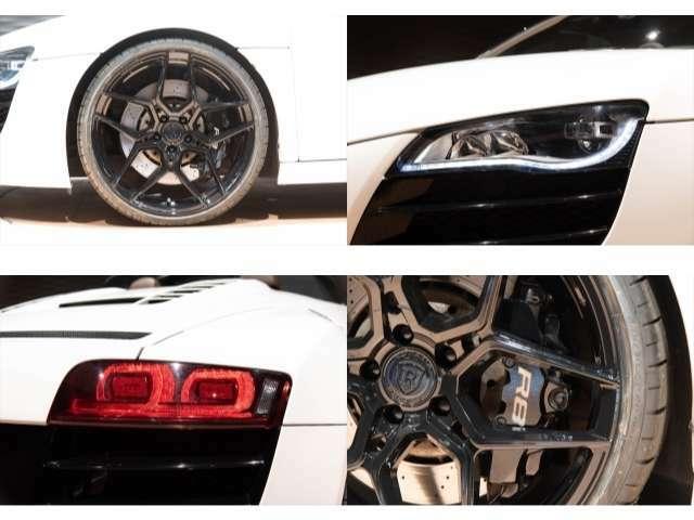 新品ROHANA鍛造20インチRFX10アルミホイール装着!タイヤは新品ピレリNEWP-ZEROを使用!!インパクトがありカッコよく決まった一台です!!