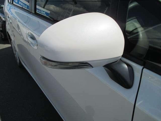 スタイリッシュなウインカーミラーが、対向車からの視認性アップ!結構目立ちます♪