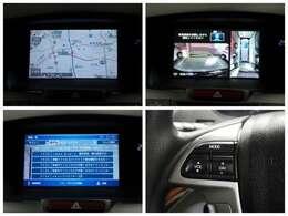 【ナビゲーション】ナビを装備しております~!インパネ内にスッキリとビルトイン装着されておりますので、運転時に視界の妨げになる事もありませんよ♪