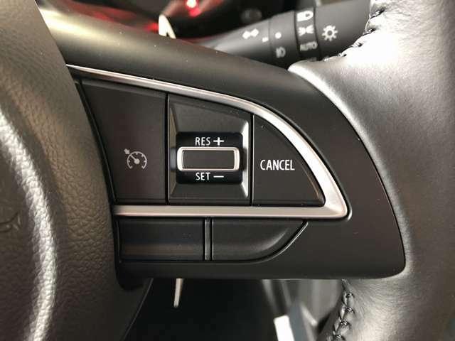 【レーダークルーズコントロール】高速道路で便利な自動で速度を保つクルーズコントロールが、衝突軽減システムと連携し、前方の車両を感知して車間を保つように速度調節してくれます♪