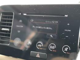 【純正ディスプレイ付きオーディオ】メーカーオプション。iPod/USB/CD/AM/FM