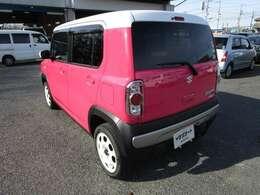 ハスラーの左リヤビュー UV&プライバシーガラスで、車内の紫外線&プライバシーをシャットアウト