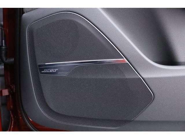 BOSEサウンドシステムがオプション装備されており低音から高音まで鮮やかなサウンドの再生を実現致します。