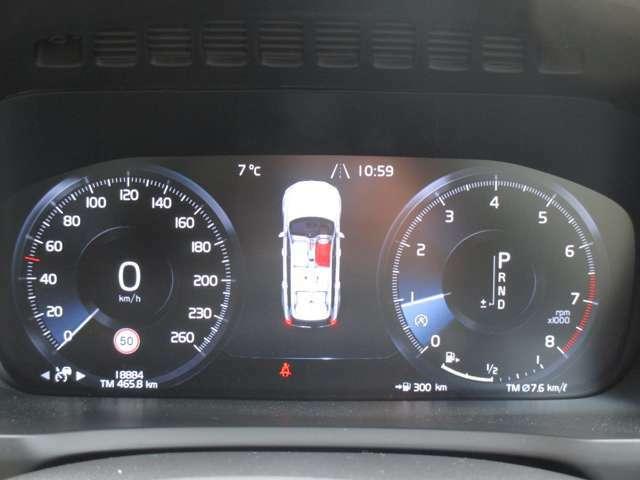 デジタル表示のスピードメーター