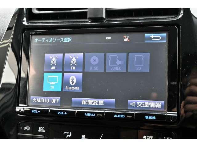 純正SDナビ8インチ!機能も豊富でCD・DVD再生、フルセグ視聴、Bluetoothオーディオ+通話が可能です!