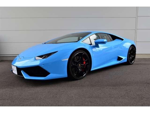 ウラカンLP610-4クーペ「Blu cepheus」が入庫しました。車検整備受渡し。メーカー保証1年間をお付けしてのご納車となります。