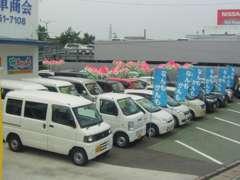 展示場には常時80台以上の厳選された車が勢揃い!もしここに並んで無くてもどんどん注文してください。