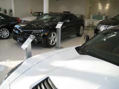 キャデラック・シボレーの各モデルを3~4台常時展示。