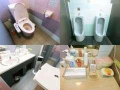 女性用トイレにはおむつ交換台も完備!お子様連れの方も安心です♪アメニティもご用意しておりますのでご自由にお使いください。