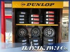 <カー用品販売> 国産メーカーのタイヤを取り扱っており、夏タイヤはもちろんスタッドレスタイヤも取り扱っております。