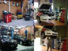 タイヤ交換もバッチリ♪自社整備工場完備にて国産外車問わず対応しておりますので 車検整備修理等ご相談ください♪